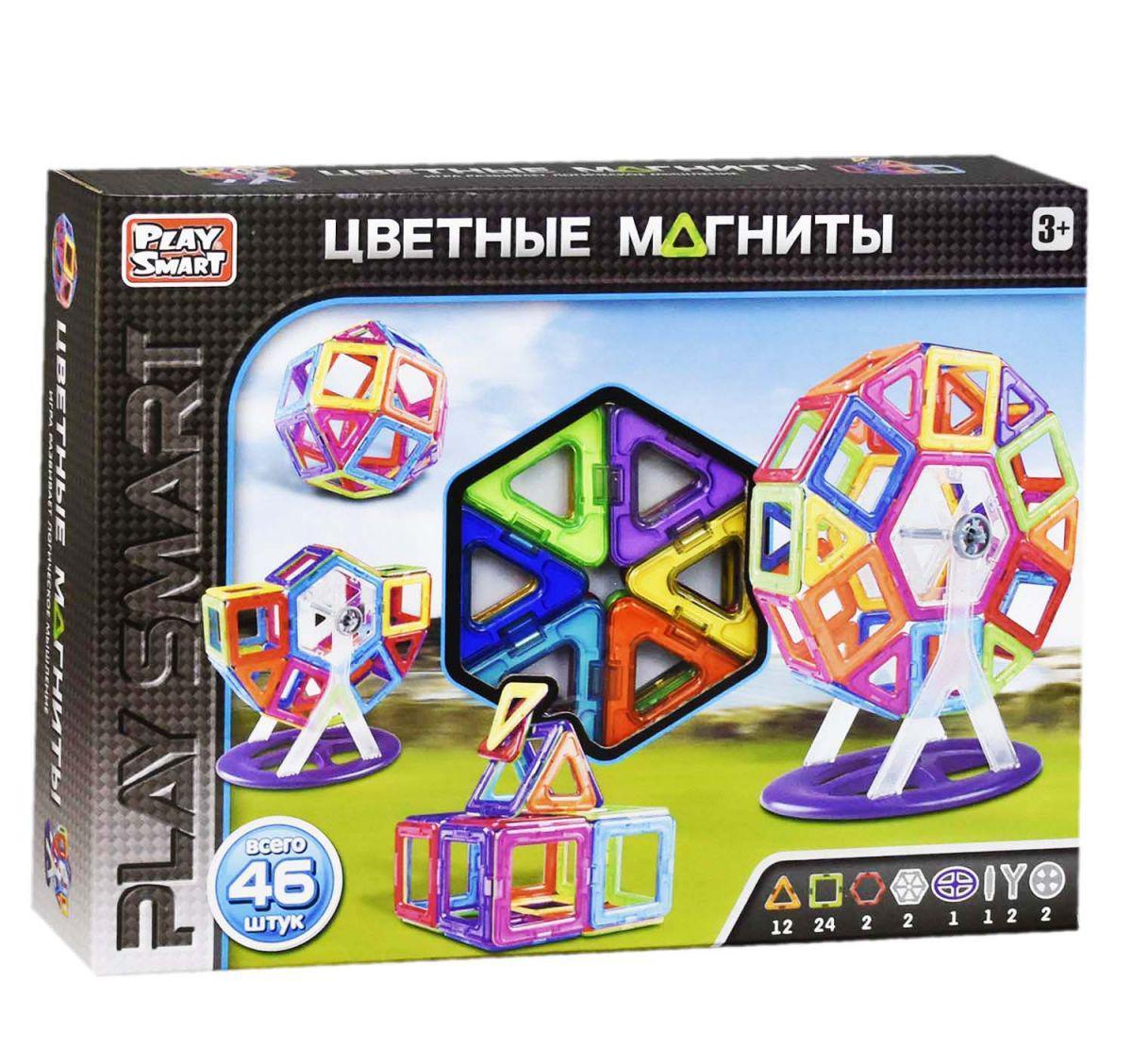 Дитячий магнітний конструктор Play Smart 2430 46 деталей
