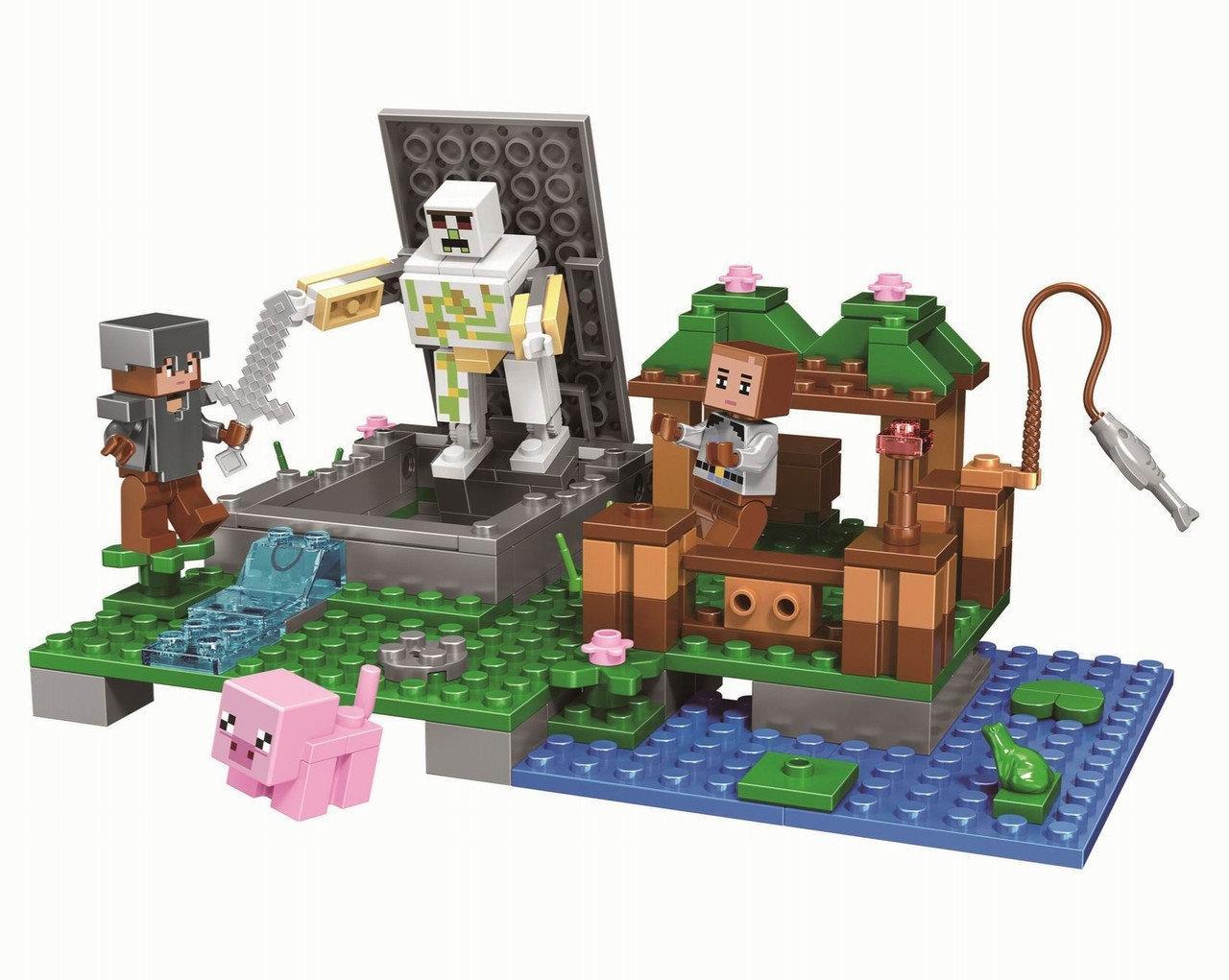 """Конструктор Bela 10962 (Аналог Lego Minecraft) """"Голем на ферме"""" 219 деталей"""