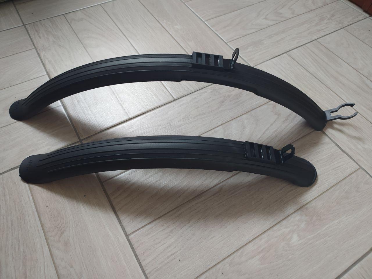 """Крылья на велосипед 26"""" длинные, черные (щитки, болотники, велокрылья)"""