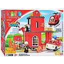 """Конструктор детский JDLT 5155 аналог Lego Duplo """"Пожарная станция"""" со звуком и светом 63 детали, фото 2"""