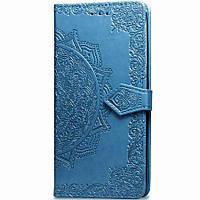 Кожаный чехол (книжка) Art Case с визитницей для Sony Xperia 5 Синий