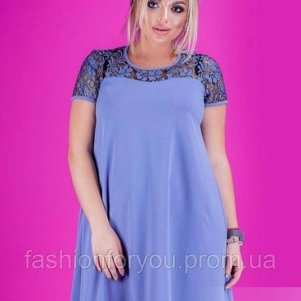 Женское платье трапеция модель 905 большого размера биг-дресс