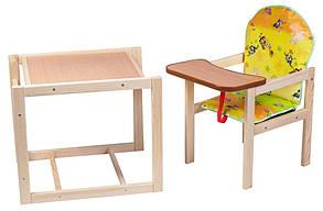 Стульчик-трансформер для кормления деревянный Губка Боб