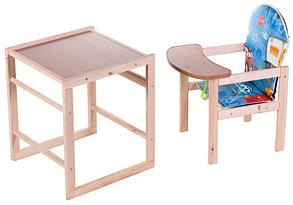 Стульчик-трансформер для кормления деревянный Тачки