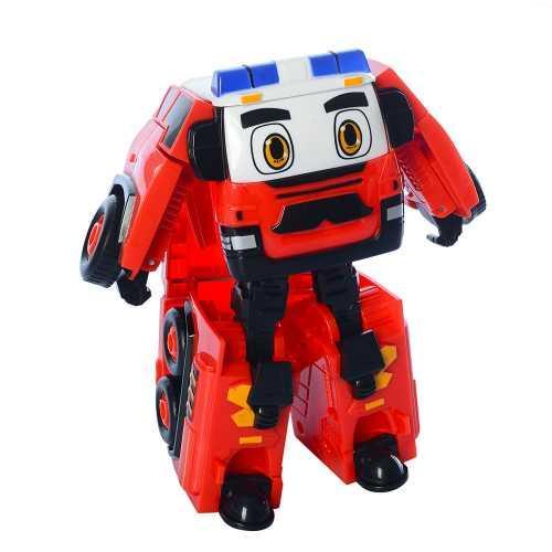 Трансформер Робокар Поли, пожарная машина, робот+машинка, 14см