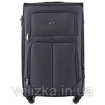 Комплект текстильных чемоданов на 4-х колесах Wings с расширителем, темно-серого цвета, фото 2
