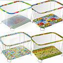 Классический детский игровой манеж Крупная и Мелкая сетка, фото 2