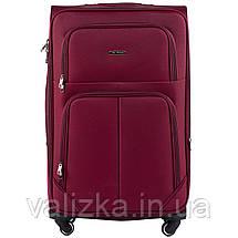 Комплект текстильных чемоданов на 4-х колесах Wings с расширителем, красного цвета, фото 2