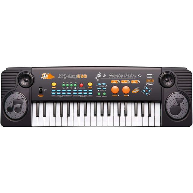 Пианино-cинтезатор MQ-803-USB 37 клавиш, mp3, usb, микрофон, от сети