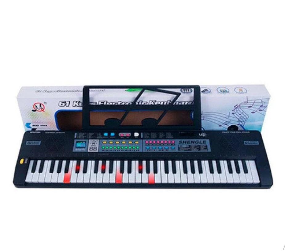 Дитячий синтезатор MQ6109L 61 клавіша, мікрофон