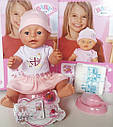 Детский пупс BL 011C 42 см, 9 функций, плачет, можно купать и кормить, с аксесуарами, фото 2