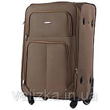 Комплект текстильных чемоданов на 4-х колесах Wings с расширителем,кофе с молоком, фото 3