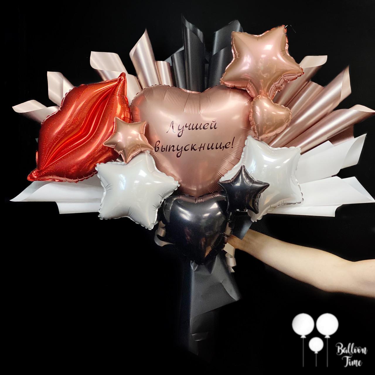 Женственный букет из мини-фигур с губками