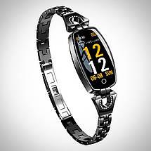 Розумні годинник фітнес браслет Finow H8 з тонометром (Чорний), фото 3