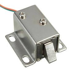 Электромеханический соленоидный замок электрозамок защелка МИНИ 12В