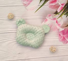 Детская ортопедическая подушка для новорожденных (5 цветов) салатовый