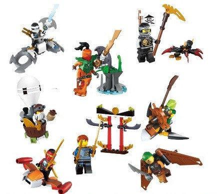 Конструктор Lele 79267 Ninja минифигурки Пираты. Аналог Lego Ninjago