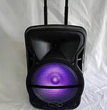 Колонка акумуляторна Wimpex WX-3028 Bluetooth, SD+USB, пульт, радіомікрофон, фото 4