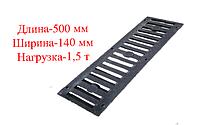 Решетка черная полимеркомпозитная 500х140х15