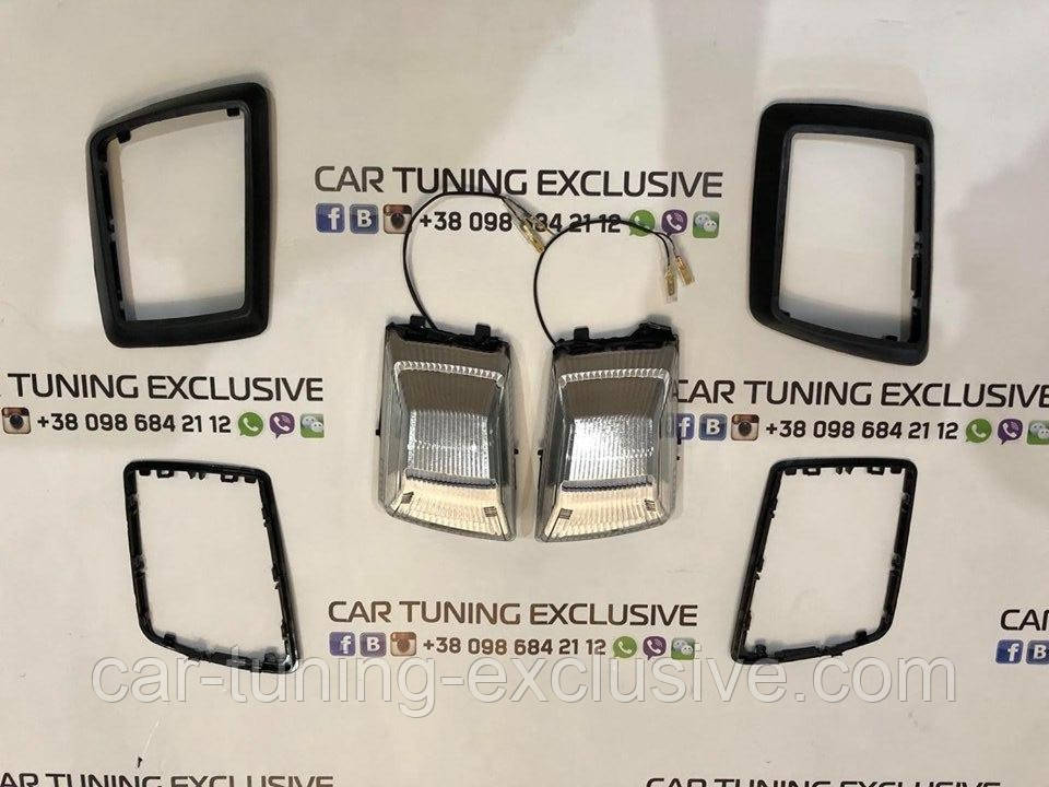 Turn signal overlays covers & LED flasher conversion on W463A for Mercedes G-class W463