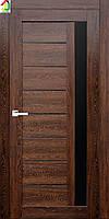 Двери межкомнатные RE37 Янтарь черное лакобель, дверь для квартиры, дверь для дома, дверь в офис.