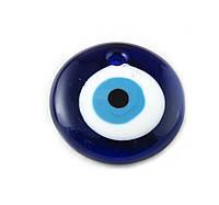 Кулон LW, «Глаз», синяя, 49х9 мм