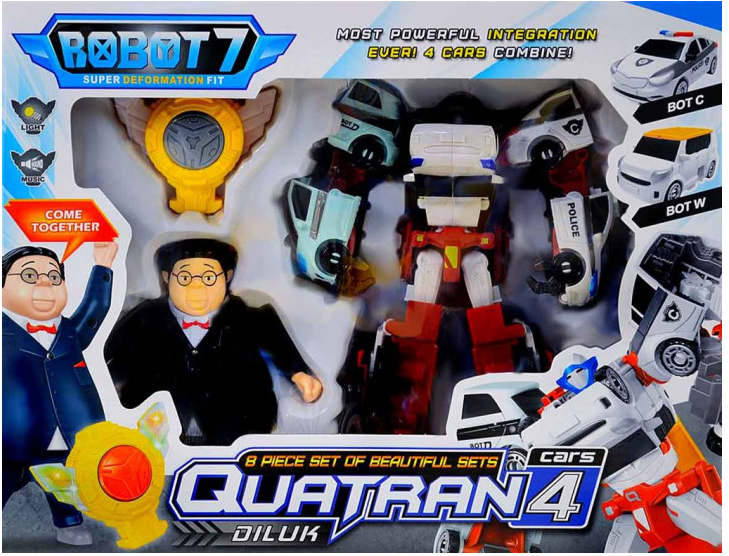 Тобот Кватран і Дилук набір Quatran Tobot (Q1907), міні тобот кватран, трансформер
