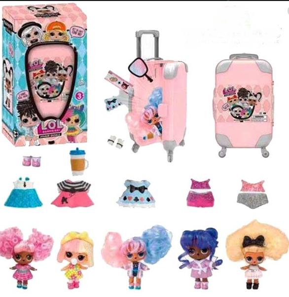 Кукла Лол с волосами в чемодане / 5 серия Лол с прической 881 / L.O.L. Hairgoals