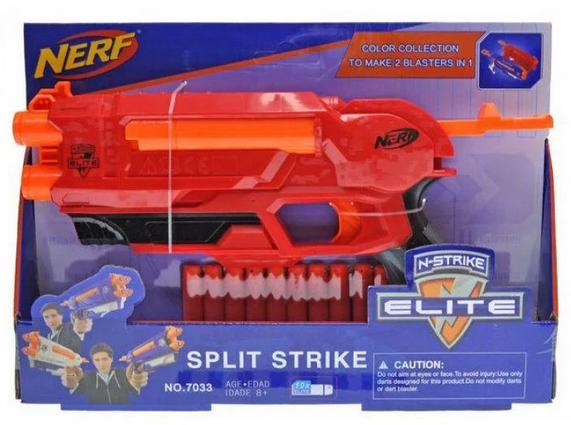 Бластер Nerf Нерф стреляет поролоновыми снарядами 7033