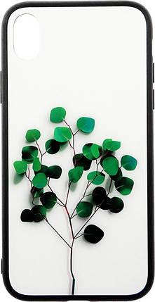 Чехол-накладка TOTO Glass Fashionable Case Apple iPhone XR Tree of Life White #I/S, фото 2