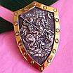 Мужской серебряный кулон с позолотой Георгий Победоносец на щите, фото 4