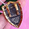 Мужской серебряный кулон с позолотой Георгий Победоносец на щите, фото 2