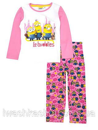 Легкая хлопковая пижама с миньонами Minions на девочек 3 лет, р. 98