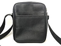 Кожаная мужская сумка ручной работы черного цвета Tsar.store