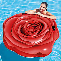 Пляжный надувной матрас Intex 58783 «РОЗА», 137*132 см, 2 ручки