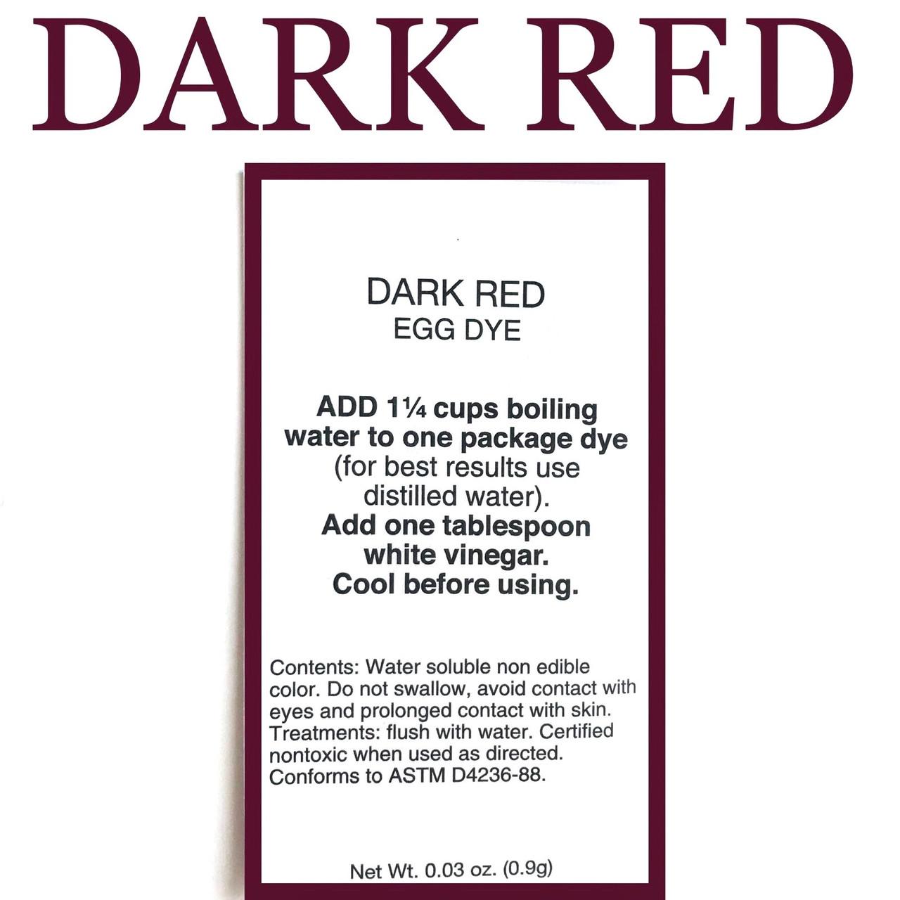 """Американський аніліновий барвник для писанок """"dark red""""бордовий"""