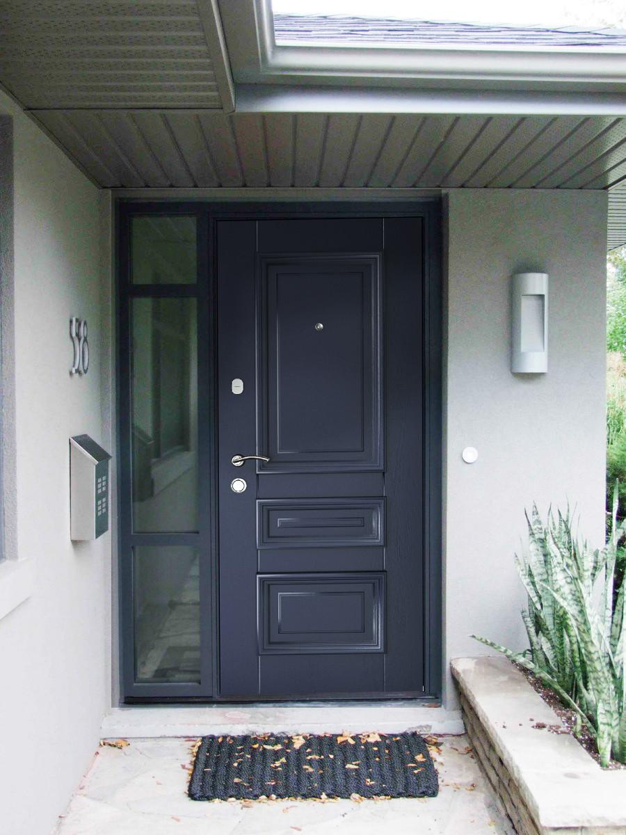 Двері вхідні SARMAK ART Юлія/Дуб синій, дуб білий