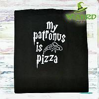 Эко сумка шоппер My patronus is pizza ручная работа