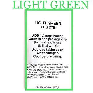 """Американський аніліновий барвник для писанок """"light green""""світло-зелений"""