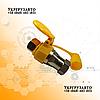 Муфта разрывная двухсторонняя воздушная (евроклапан) Желтая с крышкой М22Х1,5