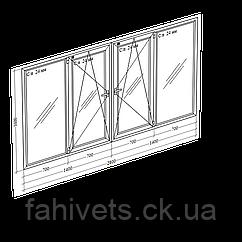 Балкони та лоджії, холодне скління