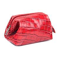 Косметичка Woman's heel кожаная красная (В-464)