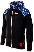 Ветровка Nike WINDRUNNER TOKYO черно-синяя BV1767-010