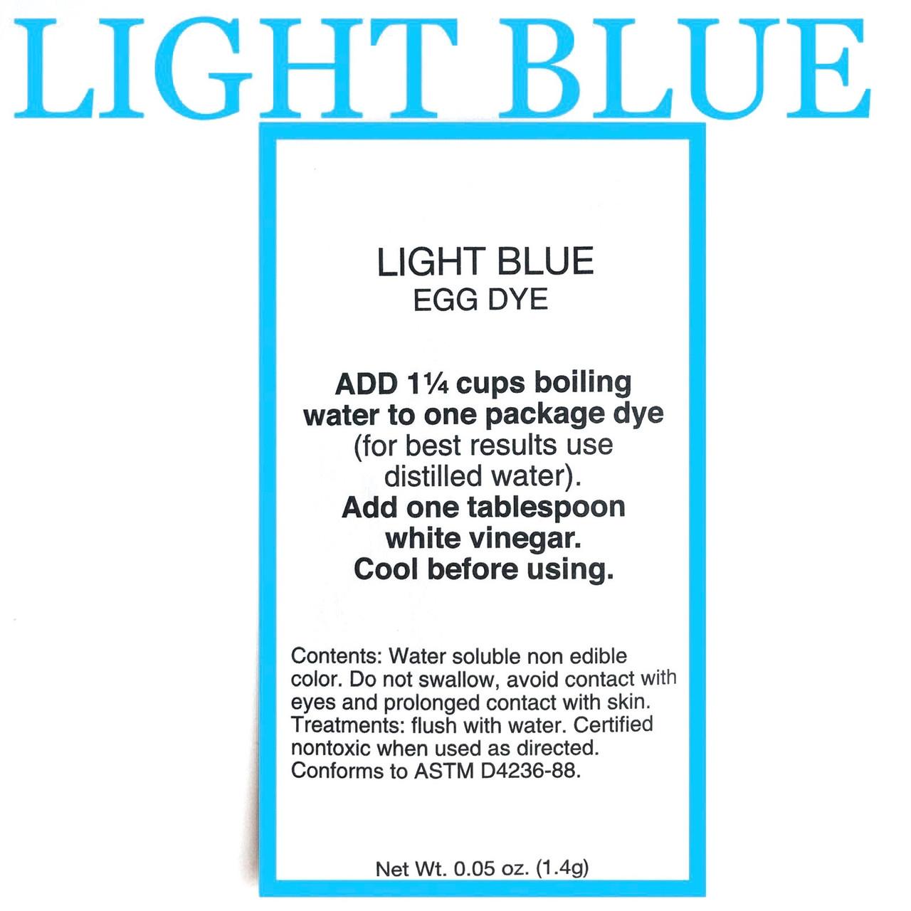 """Американський аніліновий барвник для писанок """" light blue"""" блакитний."""