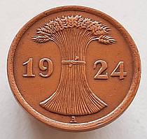 Германия 2 рентенпфеннига 1924 А