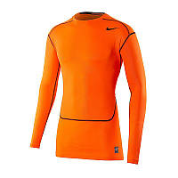 Термобелье футболка д/р Nike PRO COMBAT HYPERCOOL оранжевая 636143-803