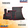 Велюровые коврики Daf xf 105 Красные Автомат