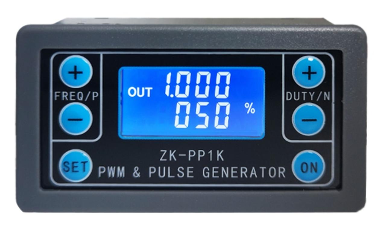Модуль генератора імпульсів ШІМ з відображенням параметрів на РК дисплеї ZK-PP1K