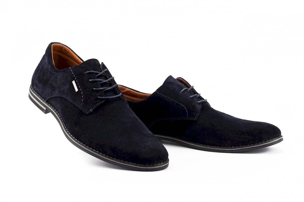Чоловічі сині замшеві туфлі
