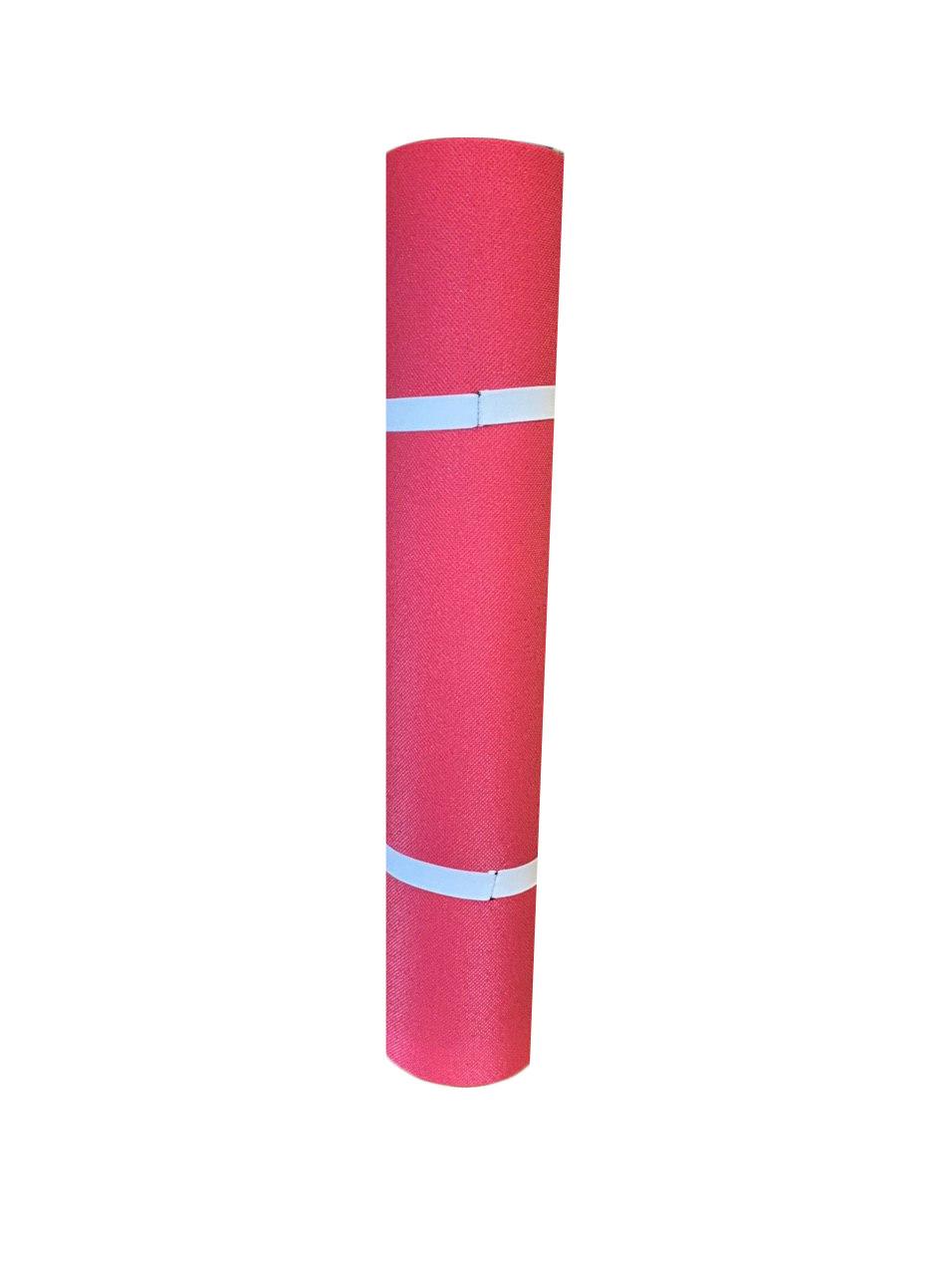 Каремат для фитнеса и йоги, красный, т. 8 мм, размер 60х150 см, производитель Украина, TERMOIZOL®